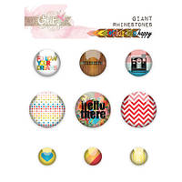 Самоклеющиеся украшения Glitz Design - Color Me Happy - Giant Rhinestones , GR0182