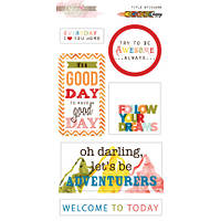 Наклейки Glitz Design - Color Me Happy - Title Stickers , TS0069