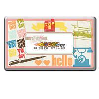 Резиновые штампы в металлической коробке Glitz Design - Color Me Happy - Rubber Stamp , ST0519