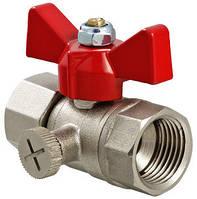 """Шаровый кран для подключения манометра 1/2"""" Valtec VT.807.N.04"""