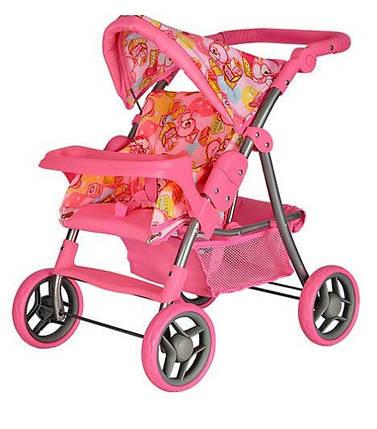 Кукольная коляска Melogo 9337 ET/005,Колеса из пено полиуретана,прогулочная коляска,любимые игрушки девочек, фото 2