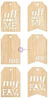 Деревянные теги Prima - All About Me - Wood Tags , 971007