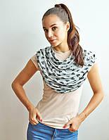 Милкснуды Накидка для кормления Для кормящих женщин грудью Молочные фартуки и шарфы на коляску - люльку, фото 1