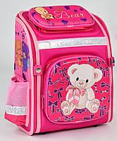 Шкільний каркасний ранець для дівчаток 1 2 клас Рюкзак портфель ортопедичний для школи Мишко