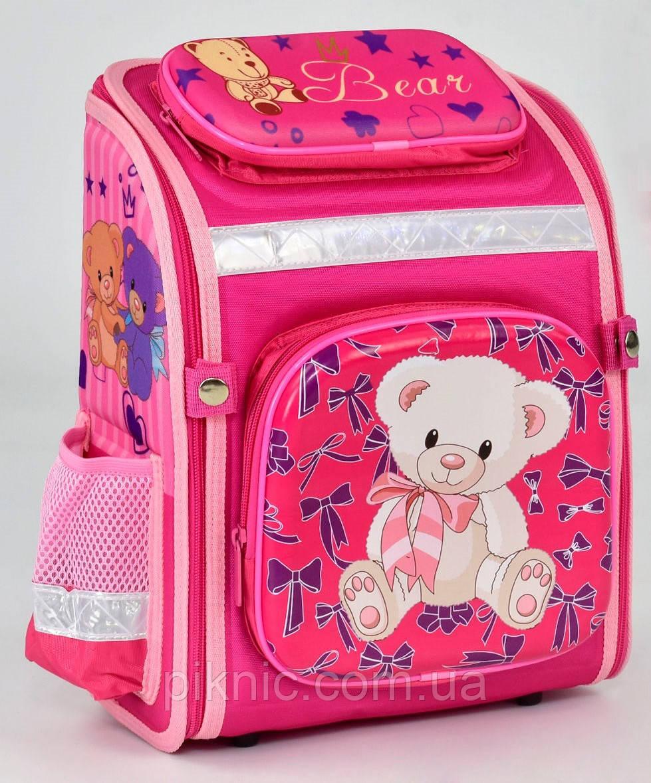 08753b4694d6 Ранец школьный каркасный ортопедический Мишка 1, 2 класс. Для девочек.  Рюкзак, портфель