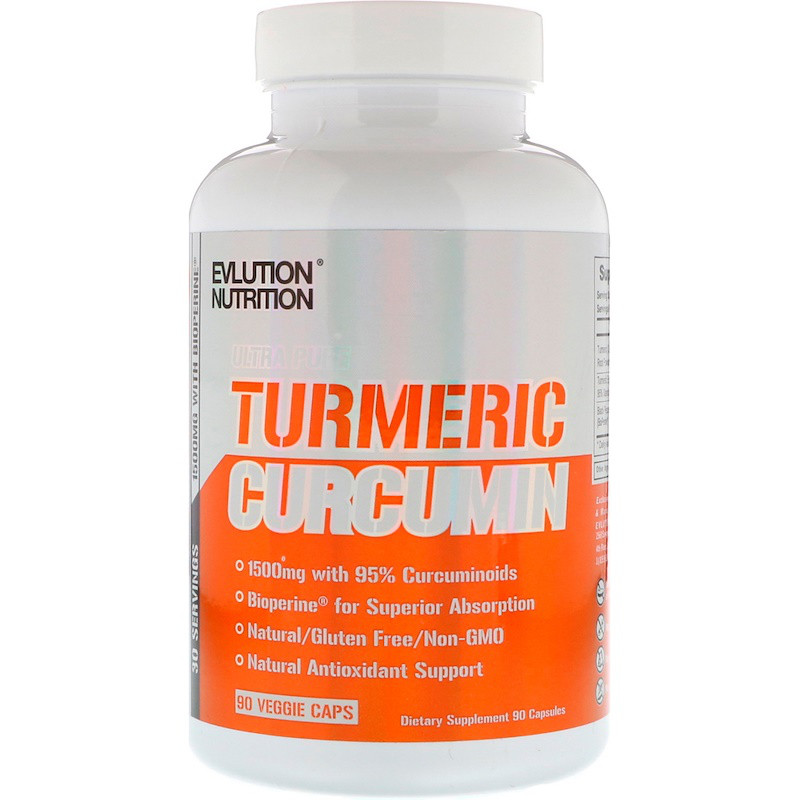 EVLution Nutrition, Turmeric Curcumin, 90 Veggie Caps
