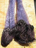 Сеть рыболовная одностенка ( синяя, дробинка ) 100х1.8 м ячейка 55 для промышленного лова