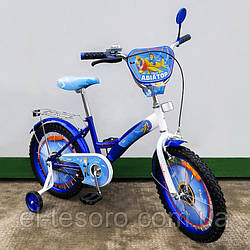 "Велосипед TILLY детский 18"" Авіатор (blue + white)"