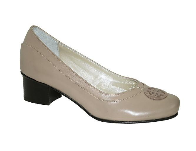 eebe7bc68 Туфли женские рр. 36-43 каблук 5 см натуральная кожа цвет бежевый  полномерные размер