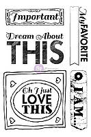 Штампы резиновые Prima - All About Me - Cling Mounted Rubber Stamps , 970994