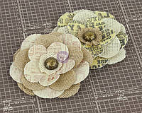 Цветы из ткани Prima - Allstar - Flower Embellishments - Canvas Flowers , 570866