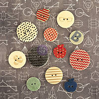 Пуговицы Prima - School Memories - Wood Embellishments - Buttons , 569617