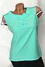 Блуза с ажурным рукавом Бл-444  пудра, фото 4