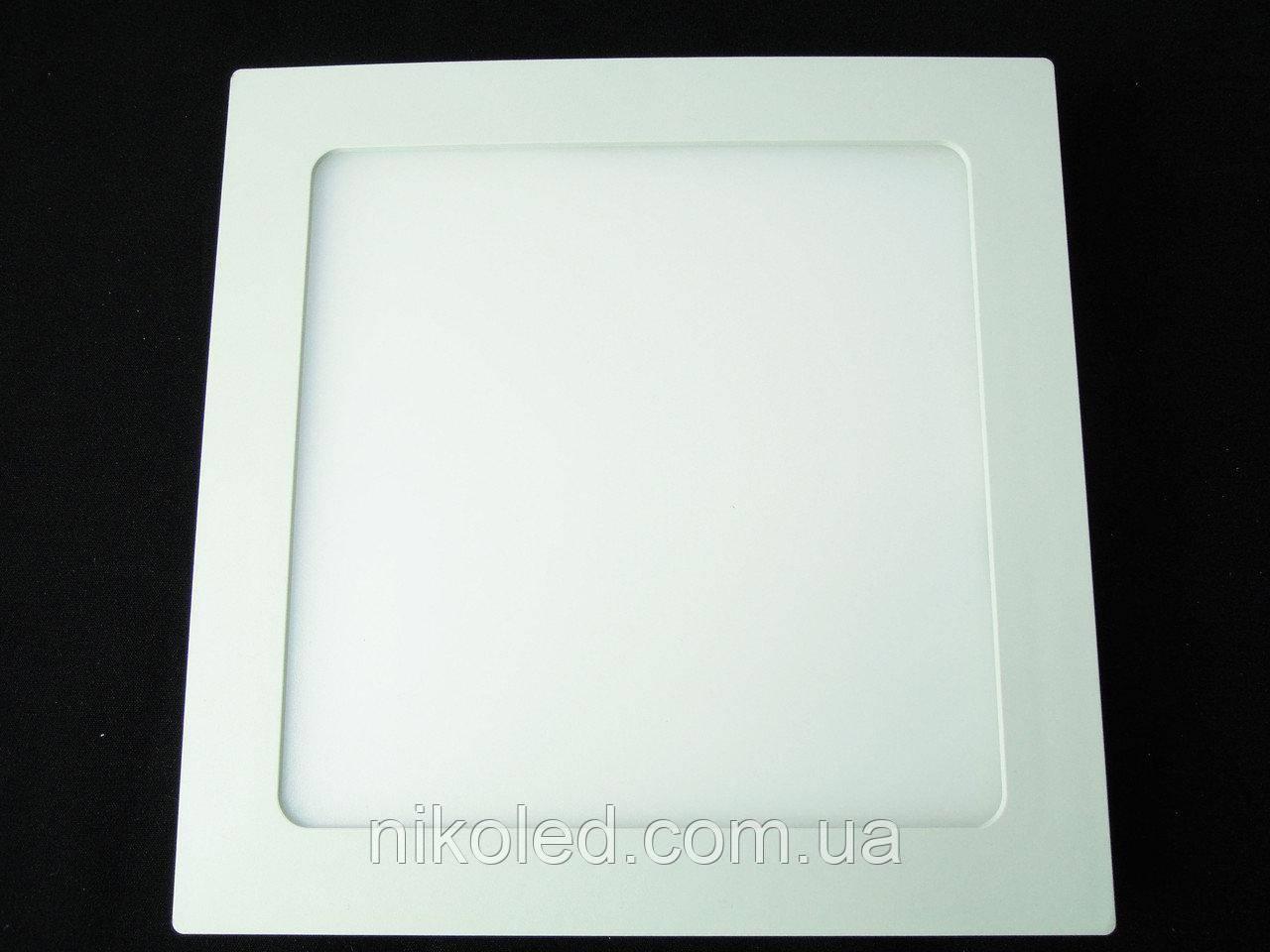 Светильник точечный Slim LED 18W квадрат  Теплый белый