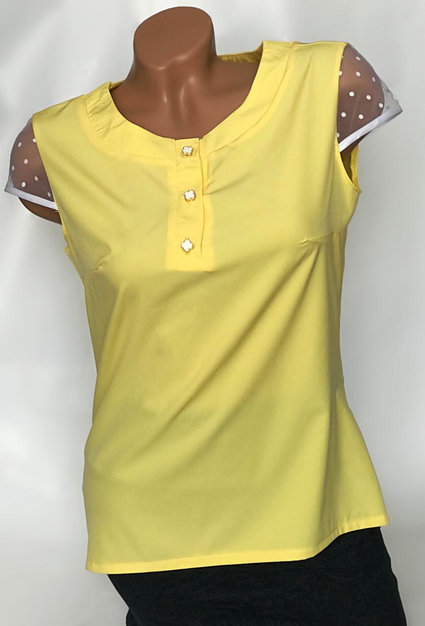 Блуза з фатіновим рукавом Бл-444 жовта