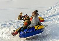 Тюбинги для катания по снегу (надувные санки), санки металлические.