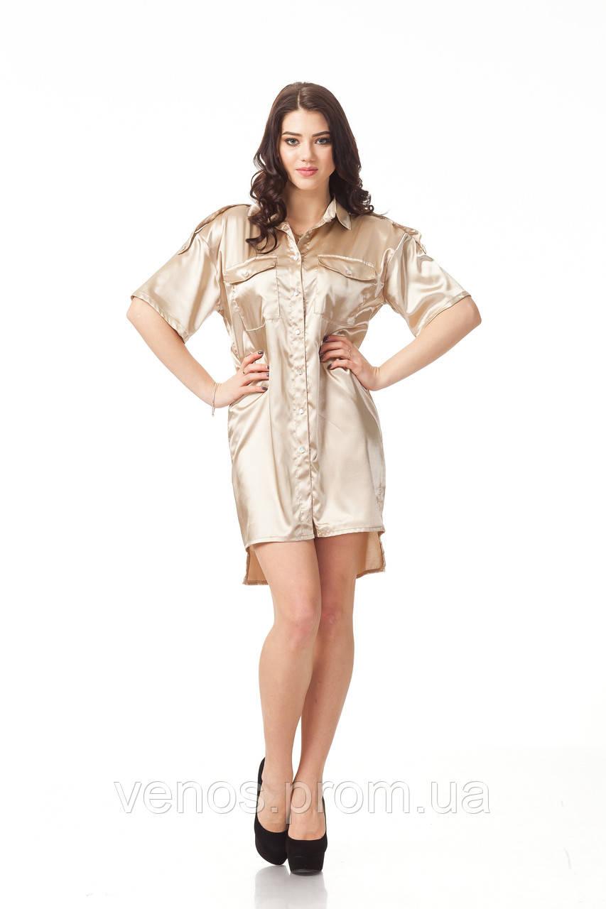 Женское платье-рубашка. П112