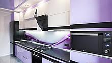 Кухня каленое стекло, кухни с фасадами из стекла в Киеве