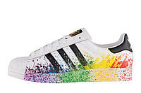 Мужские кроссовки Adidas Originals Superstar Pride Pack White Rainbow