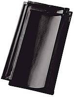 Керамическая черепица NELSKAMP модель Nibra R10 цвет ангоб состаренный черный (32)