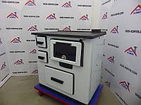 Отопительно-варочная печь Plamen Slavonac белая, фото 1