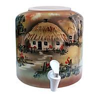 Диспенсер керамический для воды Украинская хата
