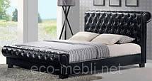 Двоспальні ліжка з мякою оббивкою