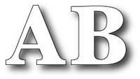 Ножи Memory box - Large Classic Uppercase Alphabet Set Dies , 98436