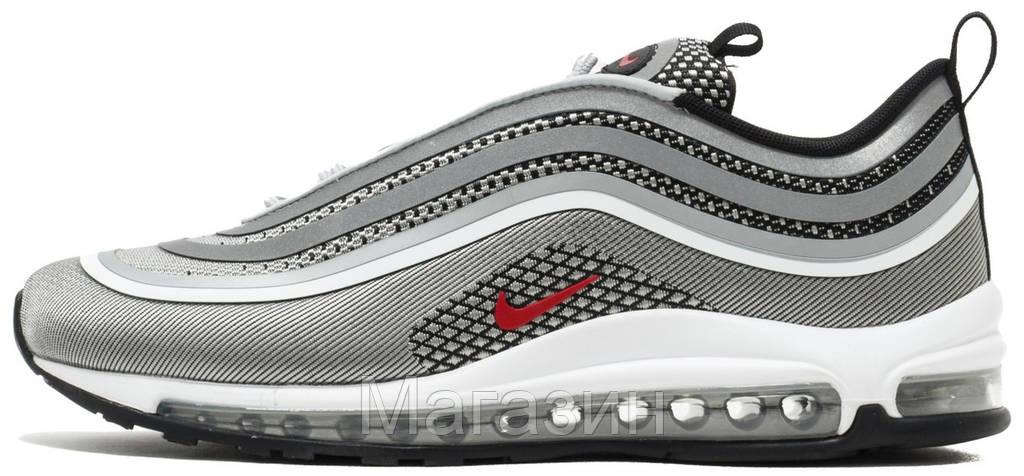 Мужские кроссовки Nike Air Max 97 Ultra  17 Metallic Silver White (в стиле 2a797657b88