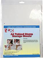 Листы хранения штампов A4 Tabbed Stamp Storage Sheets