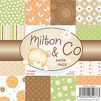Набор бумаги для скрапбукинга Wild Rose Studio - Milton , 15х15 , PP006