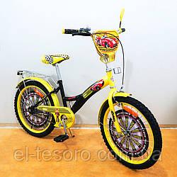 """Велосипед TILLY детский 20"""" Автогонщик (black + yellow)"""