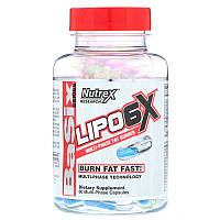 Nutrex Research Labs, Lipo 6X, Multi-Phase Fat Burner, 60 Capsules