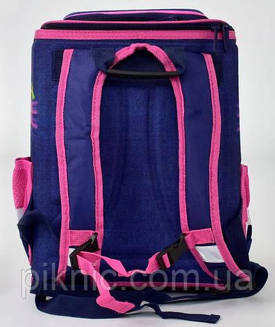 Ранец школьный каркасный ортопедический Бабочка 1, 2 класс. Для девочек. Рюкзак, портфель школа, фото 2