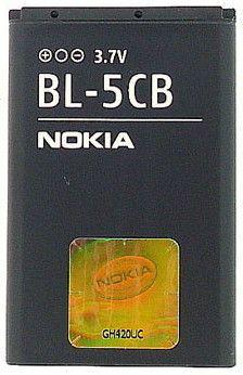 Аккумулятор для Nokia BL-5CB 800 mAh Оригинал