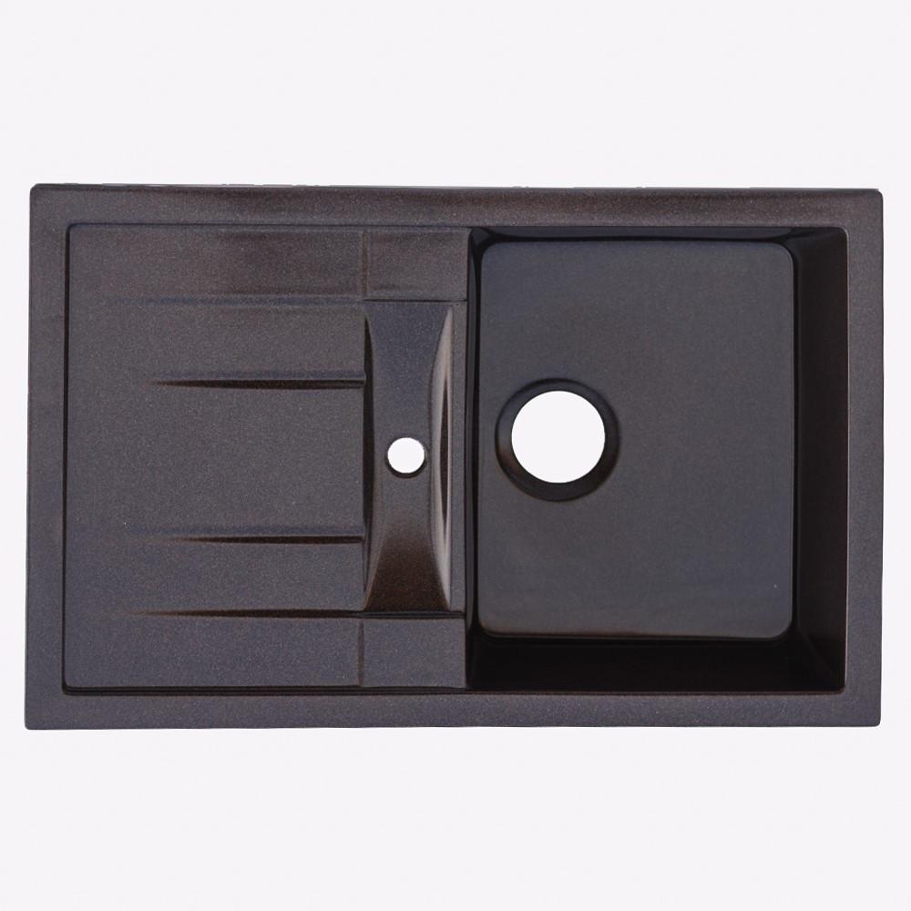 Гранитная мойка Platinum 7850 PRETSO глянец шоколад