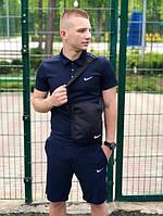 Шорты и Футболка-летний комплект Nike (поло) темносиний, M