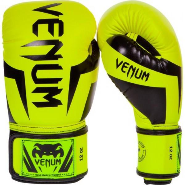 Боксерские перчатки Venum Elite Boxing Gloves Neo Yellow
