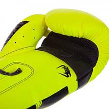 Боксерские перчатки Venum Elite Boxing Gloves Neo Yellow, фото 2