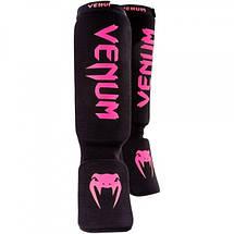 Защита голени и голеностопа Venum Kontact Shinguards - Cotton Neo Pink, фото 2