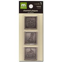 Металлические украшения Making Memories - Birthday Charmed Plaques , MM24036