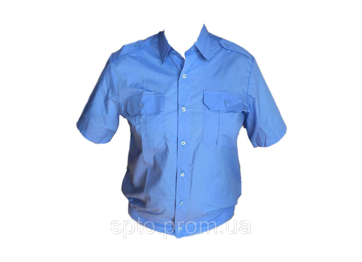 Рубашка форменная  темно-голубая