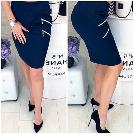 Синяя юбка миди, фото 2
