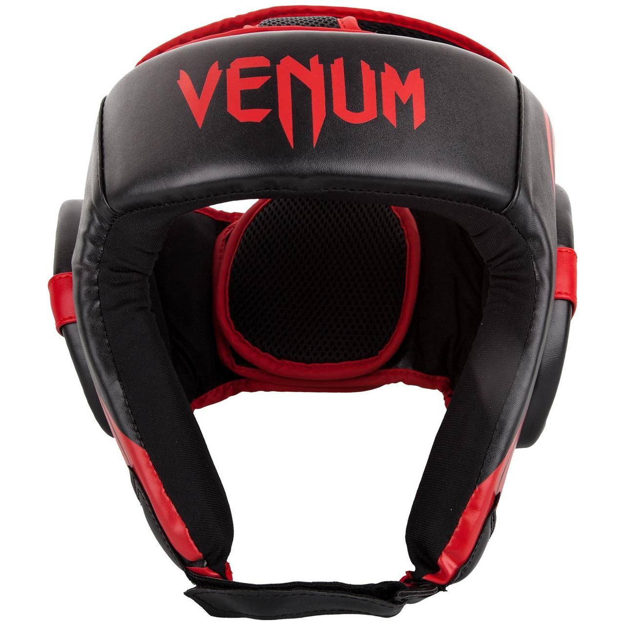 Шлем для бокса Venum Challenger Open Face Headgear Black/Red