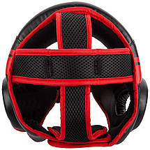 Шлем для бокса Venum Challenger Open Face Headgear Black/Red, фото 3
