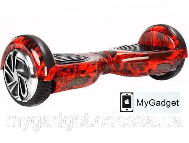 """Гироскутер / Гироборд Smart Balance Wheel Simple 6,5"""" Красное Пламя + Сумка в подарок!"""