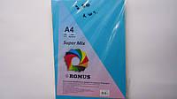 """Бумага Цветная офисная (картон) А4 10цв """"Super Mix"""" Romus 100л,160г/м для принтера,ксерокса.Картон цветной офи"""