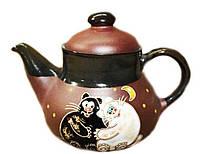 """Заварочный чайник керамический """"Коты Толстые"""" 1л"""