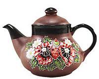 """Заварочный чайник керамический """"Маки"""" 1л"""
