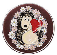 """Блюдце керамическое """"Ежик с сердцем"""""""
